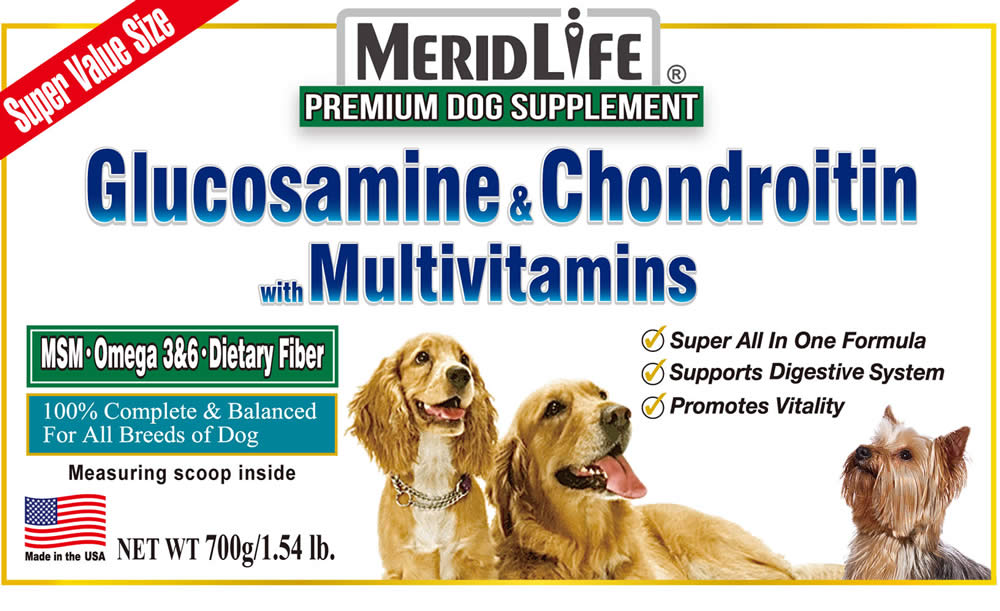 Glucosamine & Chondroitin with Multivitamin Supplement Facts