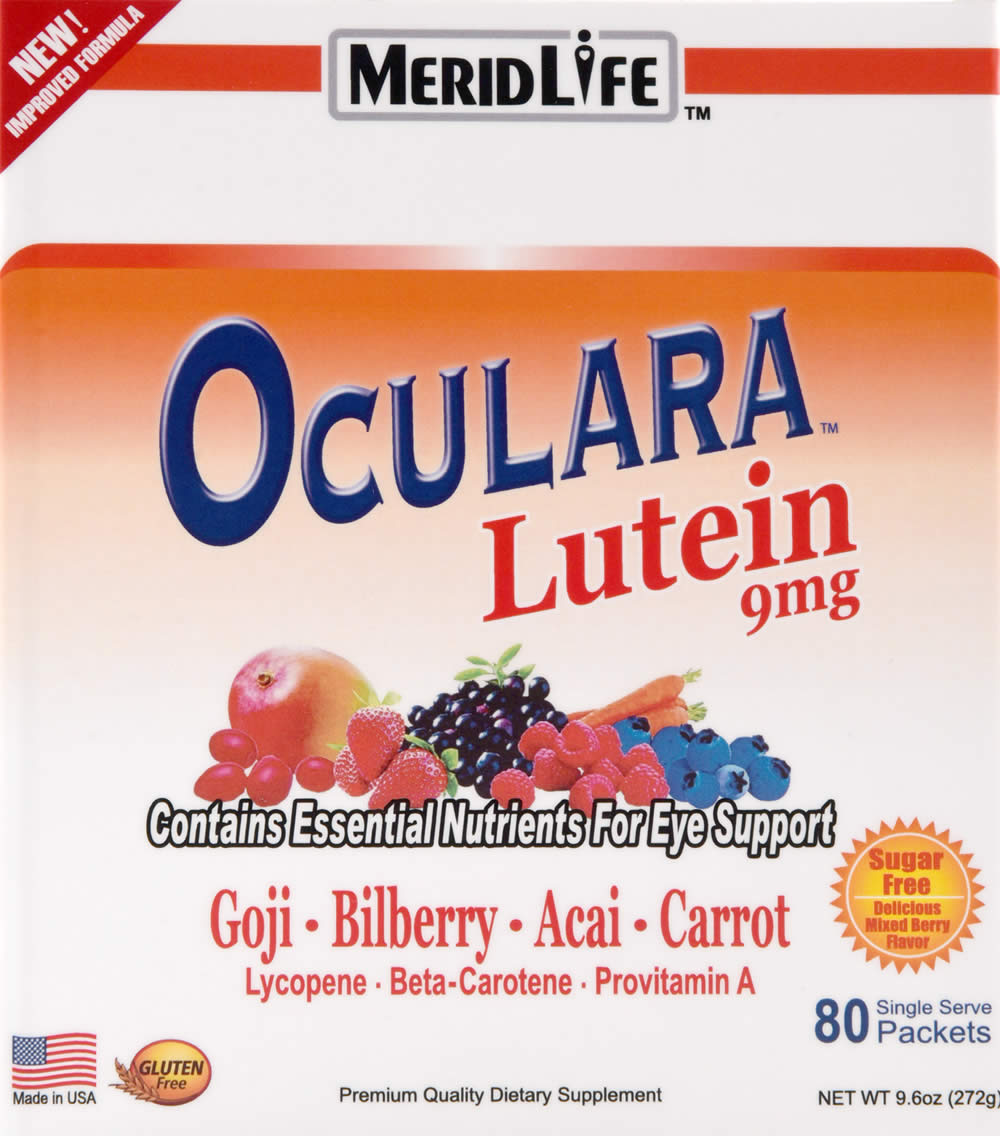 Oculara with Lutein Supplement Facts
