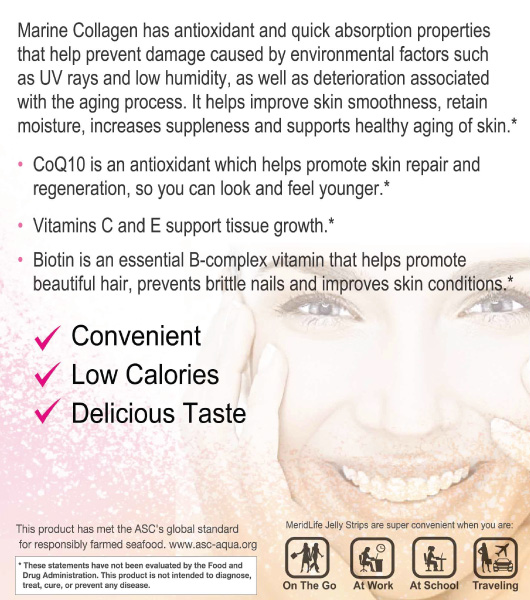 Collagen Jelly Strips Supplement Facts