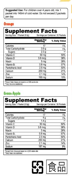 Kids Calcium Supplement Facts